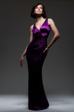 Alluring Woman In Evening Dress Stock Images