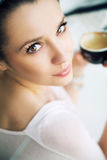 Alluring woman with incredible eyes Stock Photography