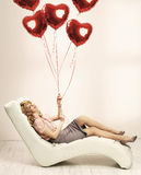 Alluring woman preparing for valentine's day Stock Photography