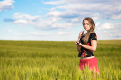 Alluring young lady Royalty Free Stock Photos