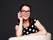 Alluring young woman in glasses Royalty Free Stock Photography
