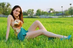 Alluring young woman Stock Images