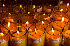 Allusions Candles. With the word Increase Fortune Stock Images