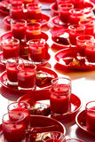 Allusions Red Candles. For นblation Royalty Free Stock Photography