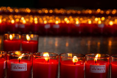 Allusions Red Candles. With word Increses Fortune Stock Image