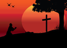 The allusions to Jesus, Vector illustrations Stock Images