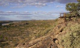 Alluviaal gebied van de Rivier Limpopo Royalty-vrije Stock Foto's