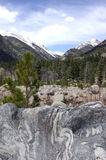 Alluvium en montañas rocosas Fotos de archivo libres de regalías