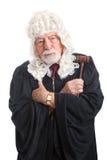 Allvarlig British domare - som är barsk och Royaltyfria Foton