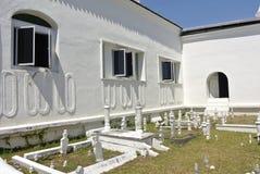 Allvarlig gård för gamla muslim på Abidin Mosque i Kuala Terengganu, Malaysia Arkivbild