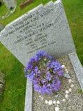 Allvarlig gravsten till den brittiska premiärministern Royaltyfria Foton