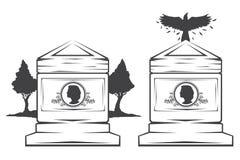 allvarlig gravstenmonument Royaltyfri Bild