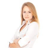 allvarlig kvinna för affär Fotografering för Bildbyråer