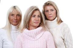 Allvarlig mogen kvinna tre Royaltyfri Fotografi