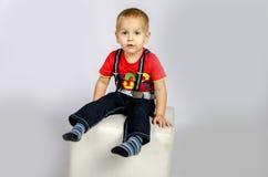 Allvarlig pojke Fotografering för Bildbyråer
