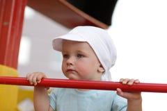 allvarlig pojkelekplats Royaltyfri Bild