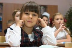allvarlig schoolgirl Royaltyfri Foto