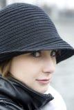 allvarlig slitage kvinna för hatt Royaltyfria Foton