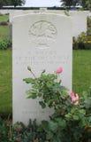 Allvarlig soldat East Kent Regiment, Frankrike för okända WW1 Arkivbild