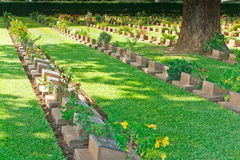 Allvarlig sten på kyrkogården för världskrig II Fotografering för Bildbyråer