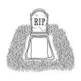 Allvarlig symbol i översiktsstil som isoleras på vit bakgrund För symbolmateriel för begravnings- ceremoni illustration för vekto vektor illustrationer