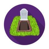 Allvarlig symbol i plan stil som isoleras på vit bakgrund För symbolmateriel för begravnings- ceremoni illustration för vektor royaltyfri illustrationer