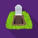Allvarlig symbol i plan stil som isoleras på vit bakgrund För symbolmateriel för begravnings- ceremoni illustration för vektor vektor illustrationer
