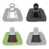 Allvarlig symbol i tecknad filmstil som isoleras på vit bakgrund För symbolmateriel för begravnings- ceremoni illustration för ve stock illustrationer