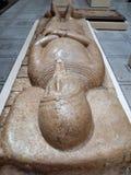 Allvarlig tjock skivaskulptur för korsfarare, Victoria och Albert Museum, London royaltyfri fotografi
