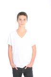 Allvarlig ung tonårs- pojke Arkivbild