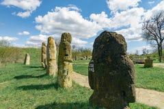 Allvarliga stenar av Scythians Arkivfoto