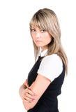 allvarligt barn för affärskvinna Royaltyfria Foton