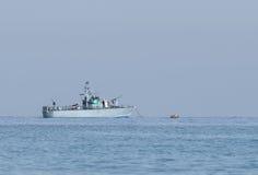 Allwetter- Patrouillenbootpatrouillen-Seeraum des Landes stockfotos