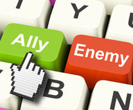 Ally Friend Computer Mean Partnership et aide Images stock