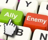 Ally Friend Computer Mean Partnership y ayuda Imagenes de archivo