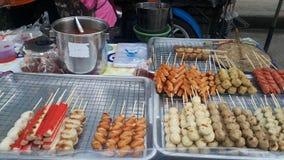 Almôndegas, carne de porco, galinha, peixe foto de stock