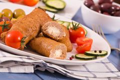 Almôndegas do grego de Bifteki Fotos de Stock