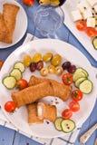 Almôndegas do grego de Bifteki Fotografia de Stock