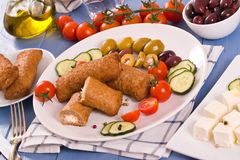 Almôndegas do grego de Bifteki Imagem de Stock Royalty Free