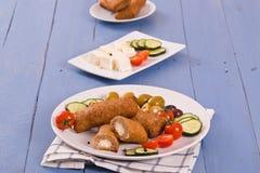 Almôndegas do grego de Bifteki Imagens de Stock Royalty Free