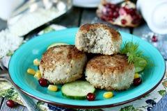 Almôndegas do russo com tefteli do arroz Fotos de Stock Royalty Free