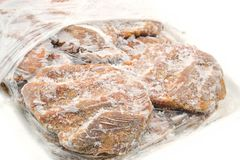 Almôndegas isoladas no fundo branco foto de stock
