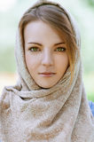 Alm Beautiful Young Woman In Head Stock Image