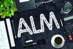 ALM-Concept op Zwart Bord het 3d teruggeven Royalty-vrije Stock Fotografie