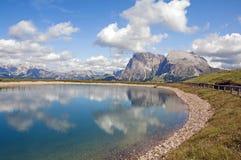 Alm de Seiser, el Tyrol del sur, Italia Foto de archivo