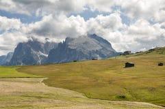 Alm di Seiser, Tirolo del sud, Italia Immagine Stock Libera da Diritti