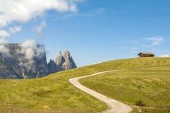 Alm di Seiser, Tirolo del sud, Italia Immagini Stock