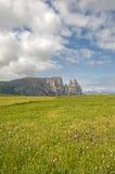 Alm di Seiser, Tirolo del sud, Italia Fotografie Stock Libere da Diritti