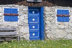 Alm di Tennen nella valle di Laengental Fotografia Stock