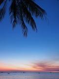 Alm en zonsondergang bij de varende club Royalty-vrije Stock Foto's